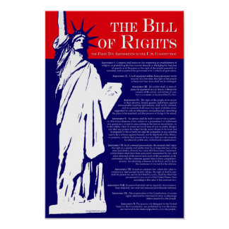 El poster de Declaración de Derechos
