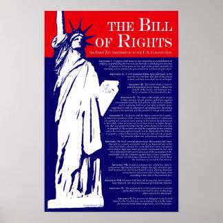 El poster de Declaración de Derechos Póster