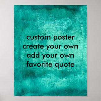 el poster de encargo crea su propio azul de 8 x 10