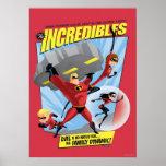 El poster de la acción de Incredibles