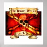El poster de la bandera de Bennett Dive Company