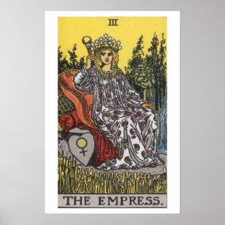 El poster de la carta de tarot de la emperatriz