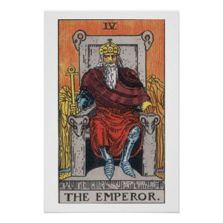 El poster de la carta de tarot del emperador