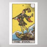 El poster de la carta de tarot del tonto