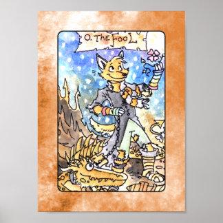 El poster de la cubierta de Tarot del tonto