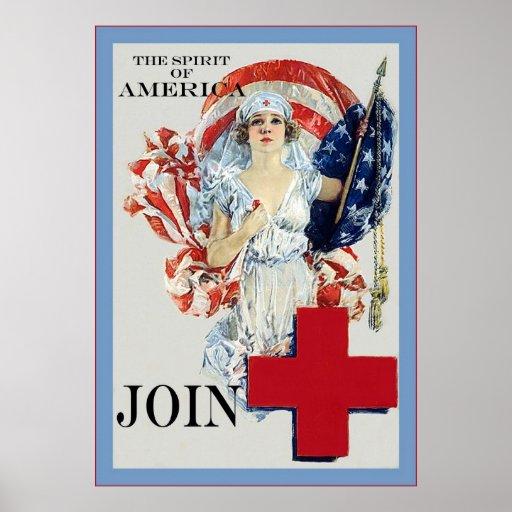 El poster de la enfermera del vintage del ~ del es