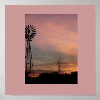 el poster de la escena del molino de viento
