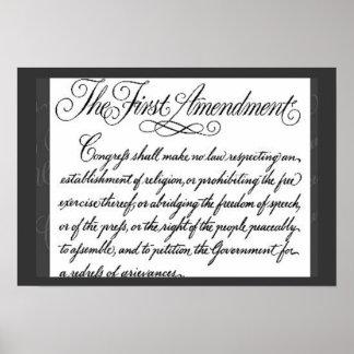 El poster de la Primera Enmienda