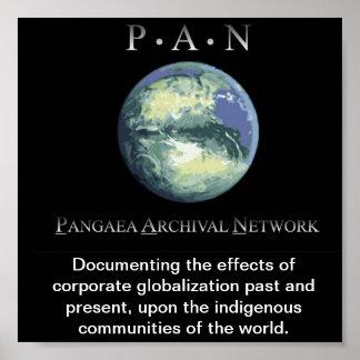 El poster de la red archival de Pangaea