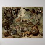 El poster de la selva del vintage