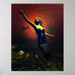 El poster de la sirena de Michelle más salvaje