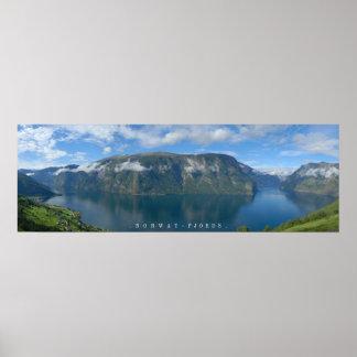 El poster de los fiordos de Noruega