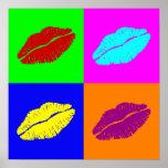el poster de los labios
