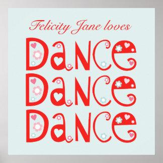 El poster de los niños de la danza de la danza de