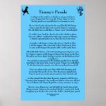 El poster de los niños del desfile de Timmy