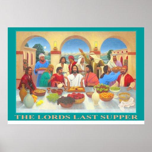 El poster de los señores última cena póster