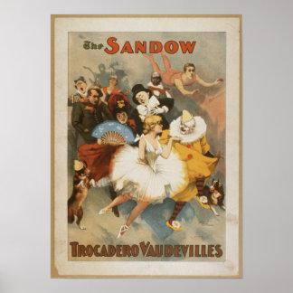 El poster de los vodeviles de Sandow Trocadero