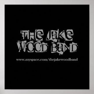 El poster de madera de la banda de Jake