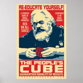 El poster de Marx del cubo de la gente