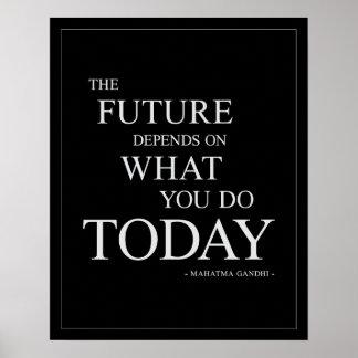 El poster de motivación Futuro-Inspirado 16x20