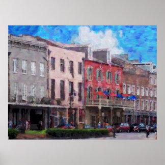 El poster de New Orleans de los barrios franceses