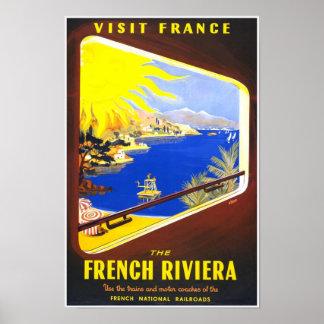 El poster de riviera francesa