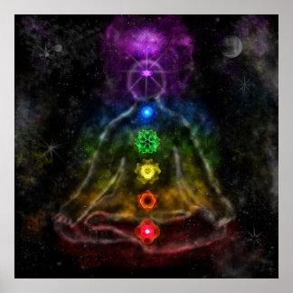 El poster de seis Chakra
