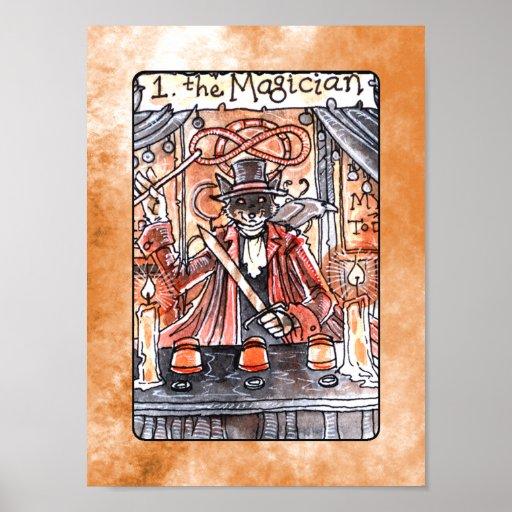 El poster de Tarot del mago