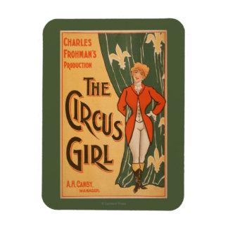 El poster de teatro #1 del chica del circo iman de vinilo