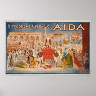 El poster de teatro de Aida del espectáculo
