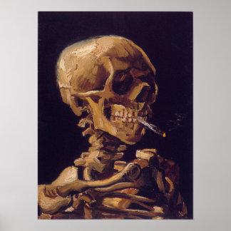 """El poster de un cigarrillo ardiente de Van Gogh """"c"""
