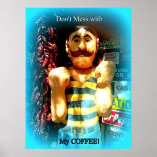 el poster del amante del café póster