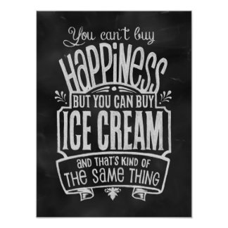 El poster del amante del helado