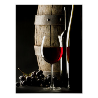 El poster del amante del vino
