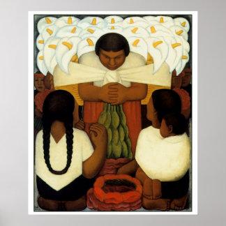 El poster del arte de Diego Rivera elige su tamaño