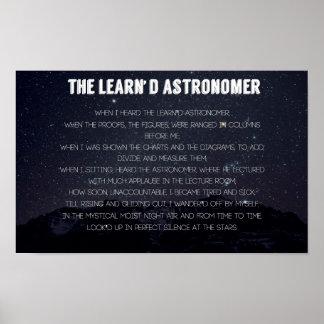 El poster del astrónomo de Learn'd