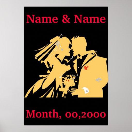 El poster del boda, corrige el texto póster
