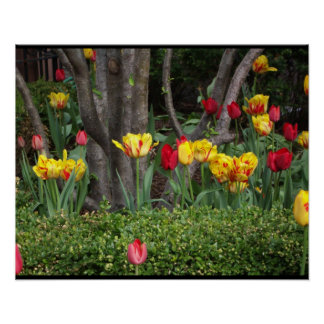 El poster del bosque del tulipán