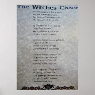 El poster del canto de las brujas