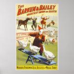 El poster del circo de Barnum y de Bailey