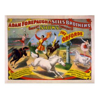 El poster del circo de Orfords - de Guillermo y de Postales