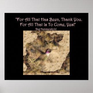 ¡El poster del colibrí… le agradece y sí!