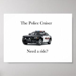 El poster del crucero de la policía
