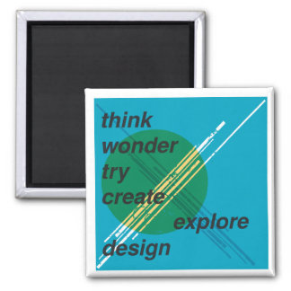 El poster del diseño gráfico, crea imán cuadrado