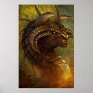El poster del dragón antiguo