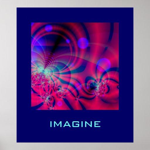 El poster del fractal de la máquina de la burbuja