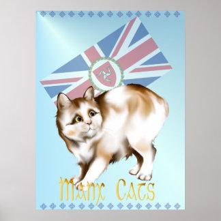 El poster del gato de la Isla de Man