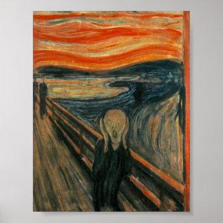 ¡El poster del grito! El grito por Edvard MU