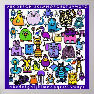 """""""el poster del libro del alfabeto"""" -"""