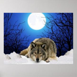 El poster del lobo del vigilante